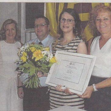 Zonta JMK Award für unsere Praktikantin