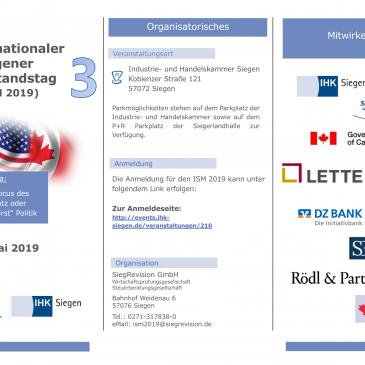 3. ISM 2019 – Unsere Internationalen Mittelstandstage gehen in die nächste Runde! USA und Kanada!