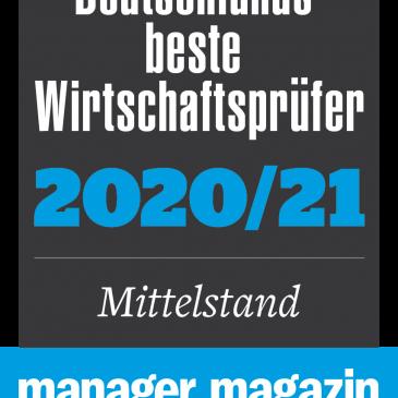 "Manager Magazin bewertet uns als ""excellent"" 2020/2021"